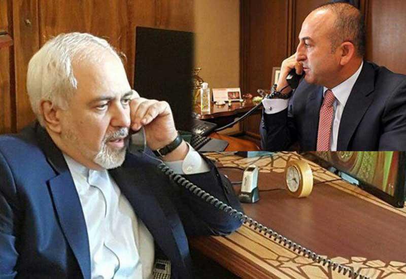 Çavuşoğlu və Zərif telefonla danışıblar