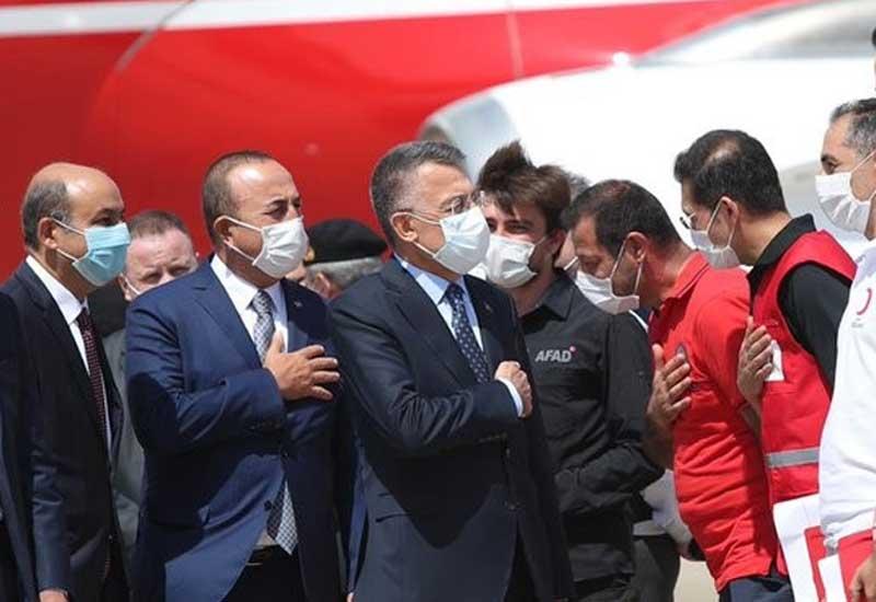 Türkiyənin vitse-prezidenti və XİN rəhbəri Beyruta səfər edib - VİDEO